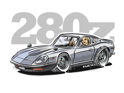 Datsun 280z Cartoon