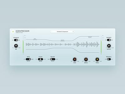 Korvpressor app software sound gui application audio interface design ui