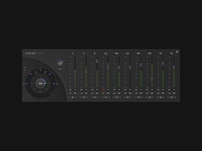 Orbit ✨ Dark version design user software audio app vst ui design ux design interface ux sound surround faders mixer music plugin daw audio