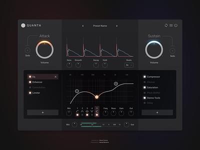 Quanta application interface design app ui effect daw plugin sound music audio vst