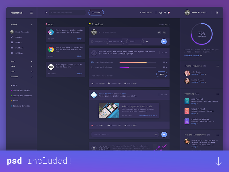 Dashboard UI design (PSD) user interface material design admin panel freebie psd uix download free graphs dashboard charts administration