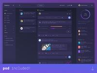 Dashboard UI design (PSD)