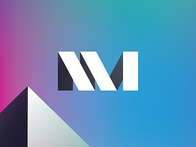 Nenad Milosevic Logo emblem logotype nm mark trade symbol milosevic nenad identity brand monogram logo
