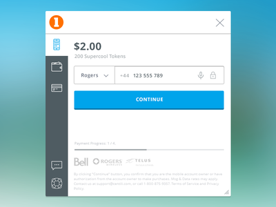 Payment Page Prototype prototype flat clean design wallet mobile payment interface ui