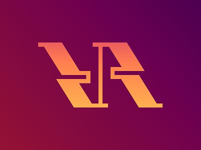 VR logo monogram branding brand identity logotype mark trademark symbol logo illustration icon