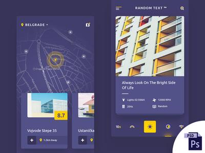 Random App Design 1/2 (PSD DOWNLOAD)