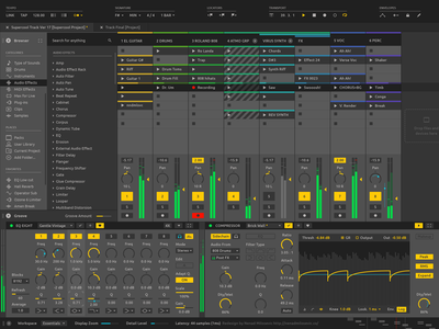 Ableton Live Redesign ux clean software sound audio daw user ui redesign interface design ableton