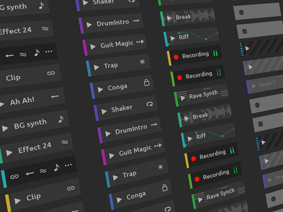 Ableton Live Redesign - Clip Types