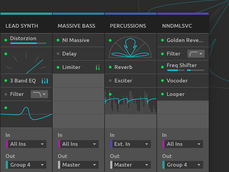 Ableton Live Redesign - Device Slots