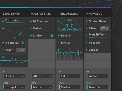 Ableton Live Redesign - Device Slots software application daw user ui redesign live interface gui design ableton