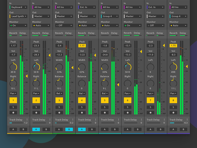 Ableton Live Redesign - Expanded Mixer application software app sound audio mixer daw ui redesign interface design ableton