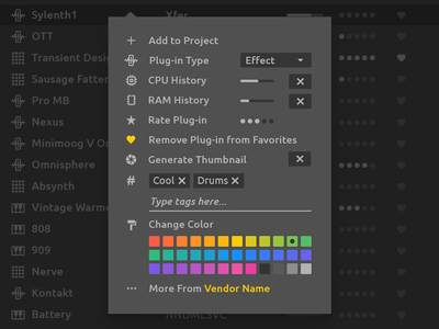 Ableton Live Redesign - Browser Right Click