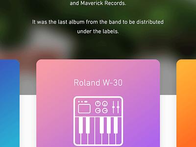 Sound Explorer prototype parallax design cards interaction user interface animation ui mobile breadcrumbs album