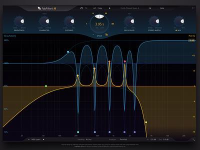 FabFilter's R sketch vst audio plugin app design interface ui fab filter reverb fabfilter