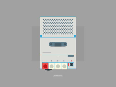 Inter cassette player 70s 80s old school retro vintage player cassette illustration audio cassette player