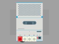 Inter cassette player