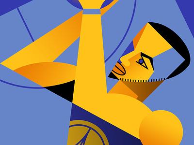 Steph Curry 🏀🏀🏀 art deco celebrity basketball sports print illustration