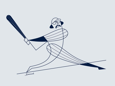 Mr. October modern abstract yankees baseball graphic sports illustration