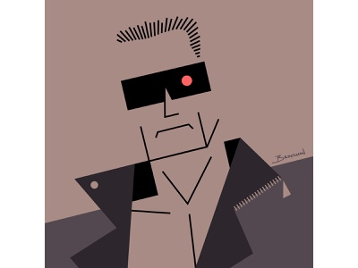The Terminator abstract sci-fi arnold schwarzenegger movie illustration