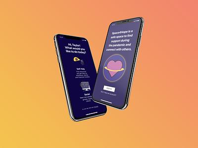 Space4Hope - UX Design Challenge case study app ux