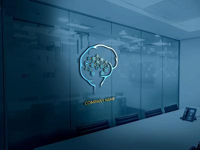 Brain LOGO animation graphic design vector minimal logo illustrator flat illustration icon design branding