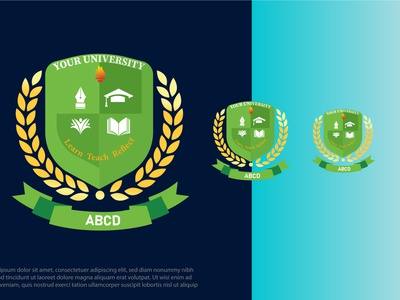 University LOGO university ui typography ux illustration illustrator logo vector branding graphic design design