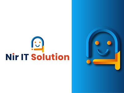 Nir IT Solution typography ux illustration illustrator logo motion graphics 3d animation ui vector branding graphic design design nir soloutions it