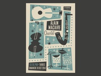 Alain Macaire 4tet gigposter