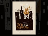 Tokyo Sex Destruction gigposter