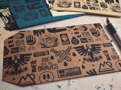 screen printed envelopes pattern illustration print handmade envelopes screenprint