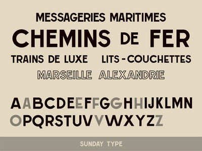 Messageries Maritimes Font vintage typography font type