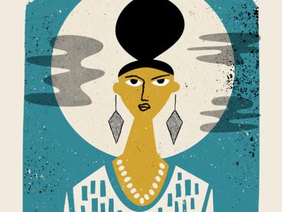 Abbey Lincoln illustration screenprint poster jazz