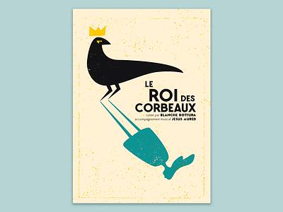 Le Roi des Corbeaux poster gascogny tale illustration