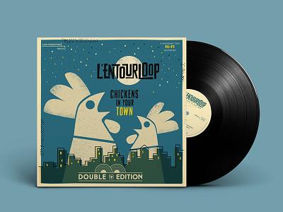 Entourloop • double LP edition vinyl album cover illustration
