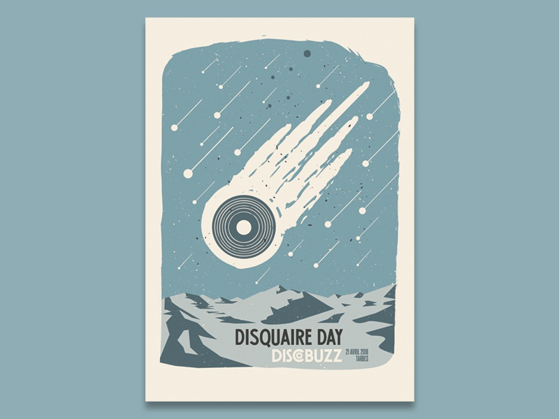 disquaire day 2018 • Lyrids tarbes disquaire day print record store day illustration poster screenprint