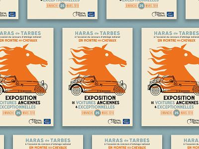 Vintage cars show poster show vintage car illustration poster
