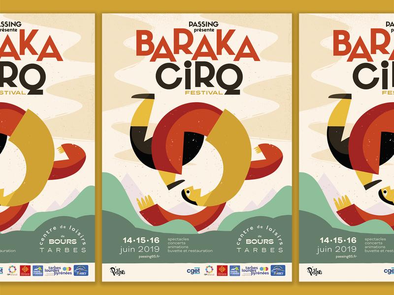 Baraka Cirq festival poster design print graphic  design festival poster poster illustration