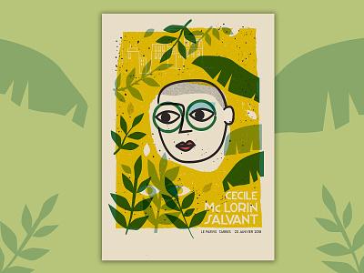 Cecile McLorin Salvant print music jazz gigposter silkscreen screenprint illustration