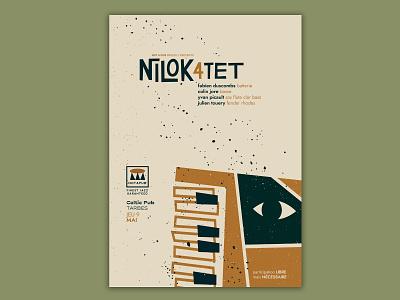 Nilok 4tet • gigposter jazz print poster gigposter illustration