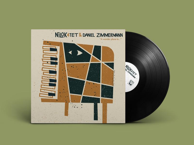 Nilok 4tet • vinyl LP music design jazz silkscreen screenprint album cover illustration