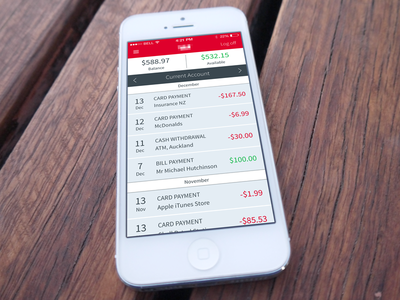 Mobile Banking - Transactions ios ux ui mobile banking transactions clean