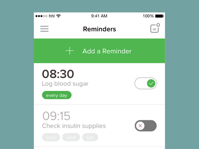 Reminders clock time tags toggle toggles alarms reminders ios
