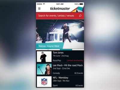 Feature Page concept homepage ui ios dashboard