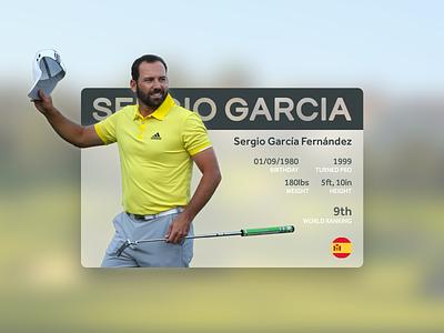 006 - Profile stats golf card profile ui dailyui