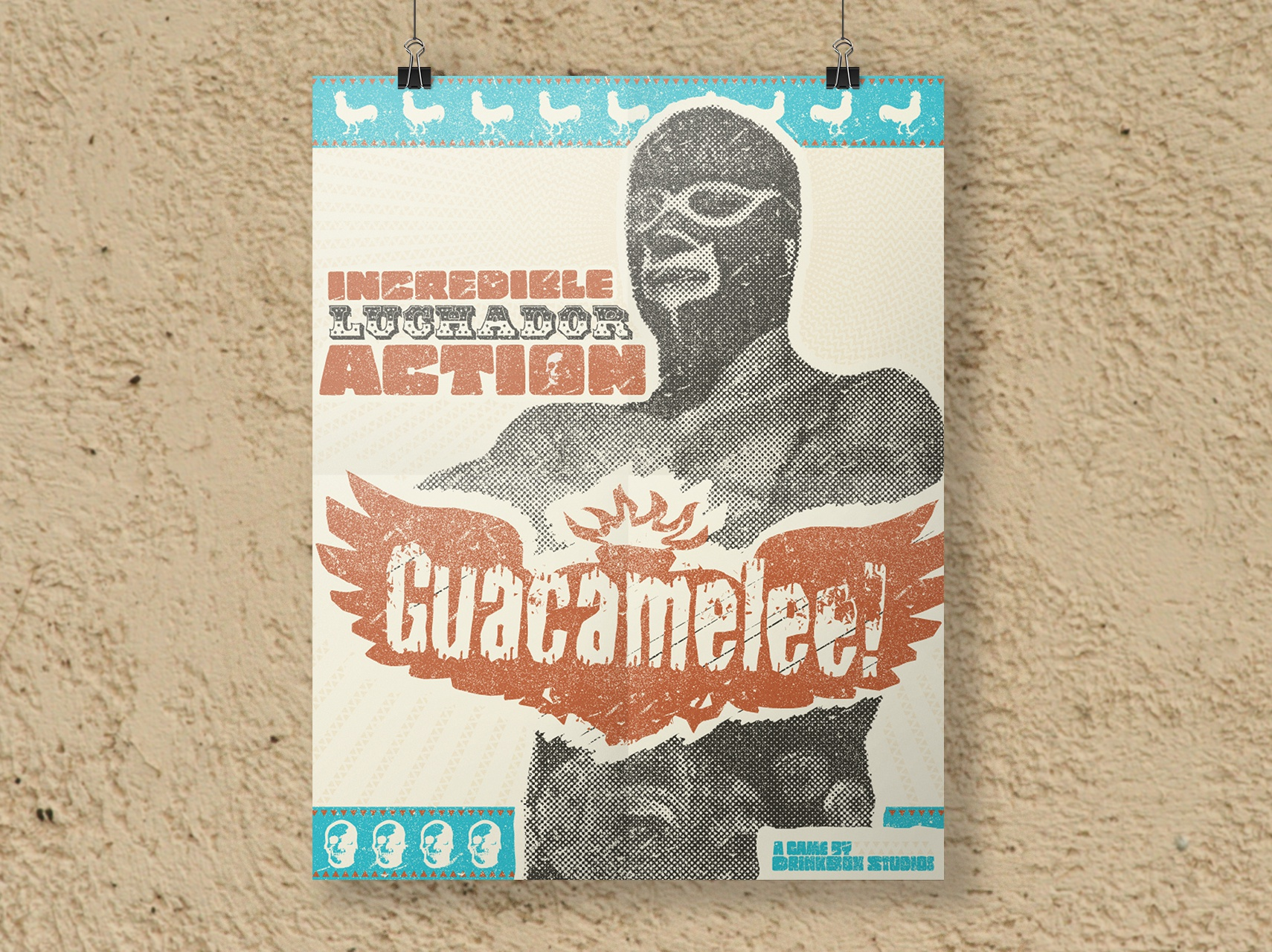 Guacamelee poster mockup