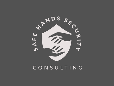 Safe Hands Security Consulting type sans serif safety shield lockup identity logo consulting security safe hands
