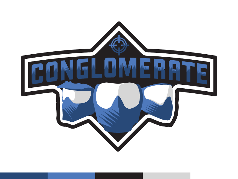 Conglomerate logo dribbble blue