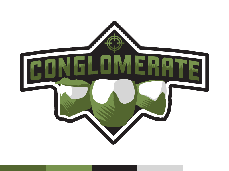 Conglomerate logo dribbble green