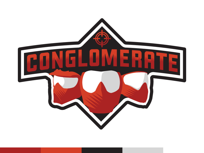 Conglomerate logo dribbble red