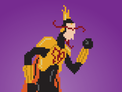 T! For THE Monarch! cartoon pixel art monarch the venture brothers illustration funny